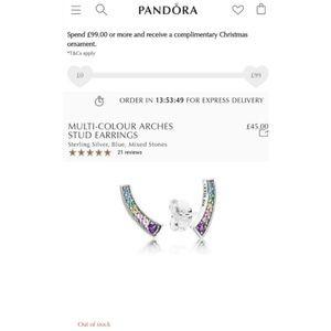 Genuine pandora rainbow earrings
